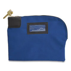 Fabric Deposit Bag, Locking, 8.5 x 11 x 1, Canvas, Blue