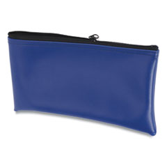 Fabric Deposit Bag, 6 x 11 x 1, Vinyl, Blue