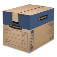 "SmoothMove Prime Moving & Storage Boxes, Regular Slotted Container (RSC), 24"" x 18"" x 18"", Brown Kraft/Blue, 6/Carton"