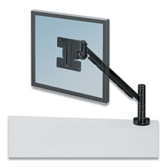 Designer Suites Flat Panel Monitor Arm, 180 Degree Rotation, 45 Degree Tilt, 360 Degree Pan, Black, Supports 20 lb