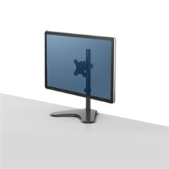 "Professional Series Single Freestanding Monitor Arm, For 32"" Monitors, 11"" x 15.4"" x 18.3"", Black, Supports 17 lb"