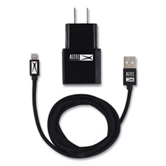 Fabric Lightning Charging Cable, 3 ft, Black