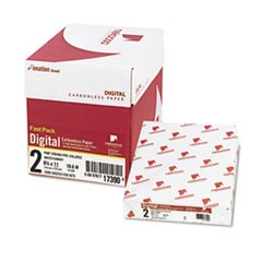 Fast Pack Digital Carbonless Paper, 2-Part, 8.5 x 11, White/Canary, 500 Sheets/Ream, 5 Reams/Carton