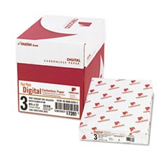 Fast Pack Carbonless 3-Part Paper, 8.5 x 11, White/Canary/Pink, 500 Sheets/Ream, 5 Reams/Carton
