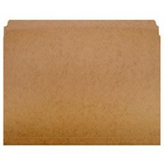 7530002223443, Paperboard File Folder, Straight Cut, Letter, Brown, 100 Folders