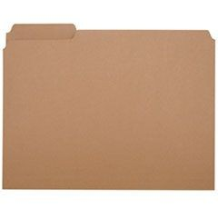 7530002815939, Medium-Duty File Folder, 1/3 Cut, Letter, Brown, 100 File Folders