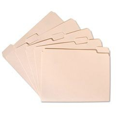 7530002815941, Light-Duty File Folder, 1/5 Cut, Letter, Manila, 100 File Folders