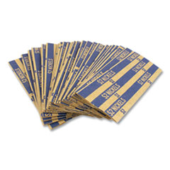 Flat Tubular Coin Wrap, Nickels, $2.00, Blue, 1,000/Box