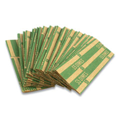 Flat Tubular Coin Wrap, Dimes, $5.00, Green, 1,000/Box