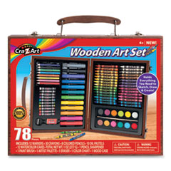 Wooden Art Set, 78 Pieces