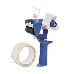 "7520015664139, Retractable Blade Tape Dispenser, 3"" Core, 2"" x 30yds Tape, Blue"