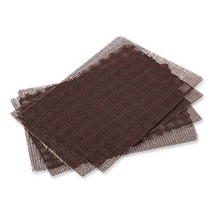 Griddle-Grill Screen, Aluminum Oxide, Brown, 4 x 5.5, 20/Pack, 10 Packs/Carton