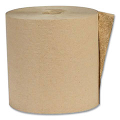 Recycled Hardwound Paper Towels, 1-Ply, 1.6 Core, 7.88 x 800 ft, Kraft, 6 Rolls/Carton