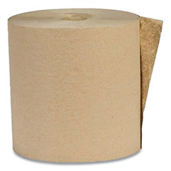 Recycled Hardwound Paper Towels, 1-Ply, 1.8 Core, 7.88 x 800 ft, Kraft, 6 Rolls/Carton
