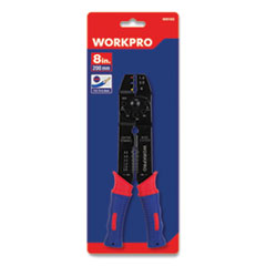 "Square Nose Multi-Purpose Wiring Tool, Metric Markings, 0.75 to 6 mm, 8"" Long, Metal, Blue/Red Soft-Grip Handle"