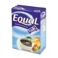 Equal Sweetener Packets, 100/Box