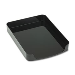 2200 Series Front-Loading Desk Tray, Single Tier, Plastic, Letter, Black