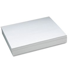 "Alternate Dotted 1/2"" Ruled Newsprint Paper, 11 x 8-1/2, White, 500 Sheets/Pack"