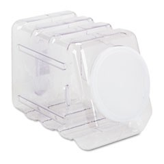 1Interlocking Storage Container with Lid, Clear Plastic
