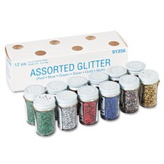 Spectra Glitter Assortments, 6 Assorted Colors, 0.75 oz., 12 Jars