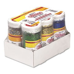 Spectra Glitter, .04 Hexagon Crystals, Assorted, 4 oz Shaker-Top Jar, 6/Pack