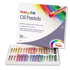 1Oil Pastel Set With Carrying Case,36-Color Set, Assorted, 36/Set
