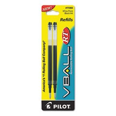 Refill for V Ball Retractable Rolling Ball Pen, Extra Fine, Black Ink