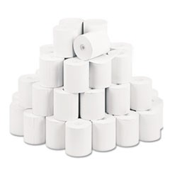 "Single Ply Thermal Cash Register/POS Rolls, 3 1/8"" x 230 ft., White, 50/CT"