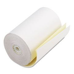 "Impact Printing Carbonless Paper Rolls, 4.5"" x 90 ft, White/Canary, 24/Carton"