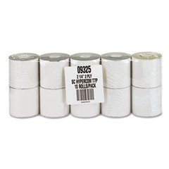 "Impact Printing Carbonless Paper Rolls, 2.25"" x 70 ft, White/Canary, 10/Pack"