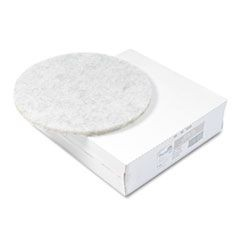"Ultra High-Speed Floor Pads, Natural Hair/Polyester, 20"" dia, 5/Carton"