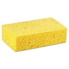 Large Cellulose Sponge, 4 3/10 x 7 4/5, Yellow, Individually Wrapped, 24/Carton