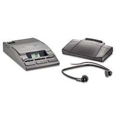720-T Desktop Analog Mini Cassette Transcriber Dictation System w/Foot Control