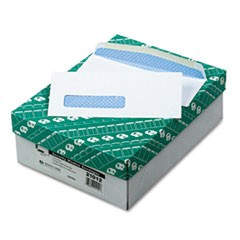 Window Envelope, #8 5/8, Commercial Flap, Gummed Closure, 3.63 x 8.63, White, 500/Box