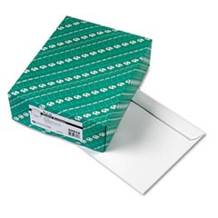 Open-Side Booklet Envelope, #13 1/2, Cheese Blade Flap, Gummed Closure, 10 x 13, White, 100/Box