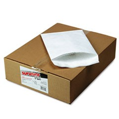 Bubble Mailer of DuPont Tyvek, #2E, Air Cushion Lining, Self-Adhesive Closure, 9 x 12, White, 25/Box