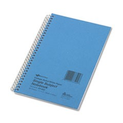 Subject Wirebound Notebook, College Rule, 7 3/4 x 5, White, 80 Sheets