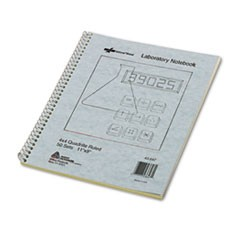 Duplicate Lab Notebook, Quadrille Rule, 9 x 11, White/Yellow, 100 Sheets