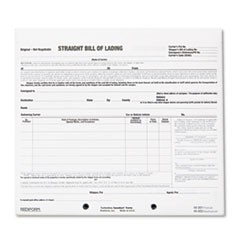 1Bill of Lading Short Form, 7 x 8 1/2, Three-Part Carbonless, 250 Forms