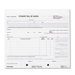 Bill of Lading Short Form, 8 1/2 x 7, Four-Part Carbonless, 250 Forms