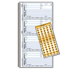 Wirebound Message Book, 2 3/4 x 5, Two-Part Carbonless, 400 Forms, 120 Labels