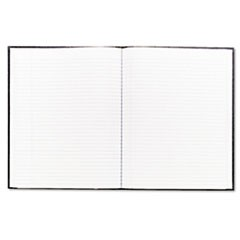 Large Executive Notebook w/Cover, 10 3/4 x 8 1/2, Letter, Black Cover, 75 Sheets
