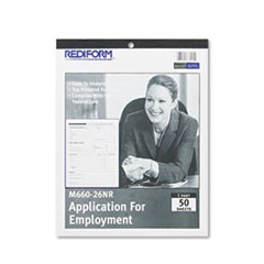 1Employment Application, 8 1/2 x 11, 50 Forms
