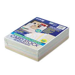 Array Card Stock, 65lb, 8 1/2 x 11, Assorted, 250/Pack