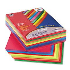 Array Card Stock, 65lb, 8 1/2 x 11, Assorted Lively Colors, 250/Pack