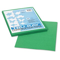 1Tru-Ray Construction Paper, 76lb, 9 x 12, Holiday Green, 50/Pack