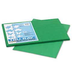 1Tru-Ray Construction Paper, 76lb, 12 x 18, Holiday Green, 50/Pack