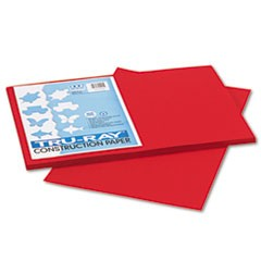 Tru-Ray Construction Paper, 76lb, 12 x 18, Holiday Red, 50/Pack