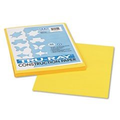 1Tru-Ray Construction Paper, 76lb, 9 x 12, Yellow, 50/Pack