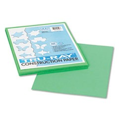 1Tru-Ray Construction Paper, 76lb, 9 x 12, Festive Green, 50/Pack